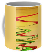 Two Red Roses Abstract Coffee Mug
