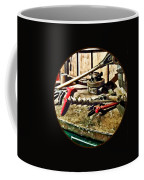 Two Red Wrenches On Plumber's Workbench Coffee Mug