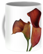 Two Rust Calla Lilies Square Coffee Mug
