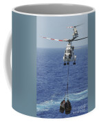 Two Sa-330 Puma Helicopters Deliver Coffee Mug by Stocktrek Images