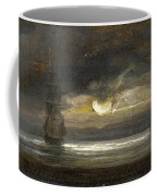 Two Sailing Boats By Moonlight Coffee Mug