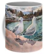 Two Seagulls By The Sea Coffee Mug