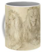 Two Seated Lions Coffee Mug