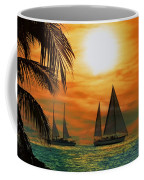 Two Ships Passing In The Night Coffee Mug by Bill Cannon