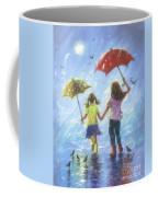 Two Sisters Rain Blond Little Sister Coffee Mug
