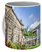 Two Solitudes, Holetown Church And Limegrove Mall, Barbados Coffee Mug
