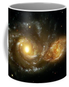 Two Spiral Galaxies Coffee Mug by Jennifer Rondinelli Reilly - Fine Art Photography