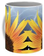 Two Sunflower Lightning Storm Coffee Mug