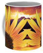 Two Sunflower Sunset Coffee Mug