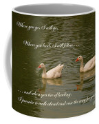 Two Swans - Marriage Vows Coffee Mug