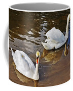 Two Swans On Spring Water Coffee Mug