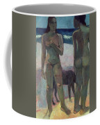 Two Tahitian Women On The Beach Coffee Mug