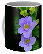 Two Thunbergia With Dew Drops Coffee Mug