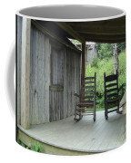 Two Tranquil Rocking Chairs In The Mountains Coffee Mug