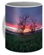 Two Trees In A Purple Sunset Coffee Mug