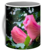 Two Unopen Pink Hibiscus Flowers Coffee Mug