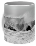 Two Waves Are Better Than One - Jersey Shore Coffee Mug by Angie Tirado