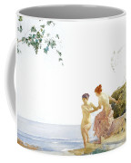 Two Women On The Steps At Noon  Coffee Mug
