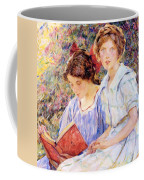 Two Women Reading Coffee Mug