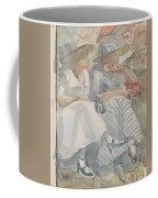 Two Women Sitting In The Front Row Of An Audience Coffee Mug