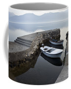 Two Wooden Boats In A Little Bay In The Morning Coffee Mug