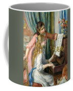 Two Young Girls At The Piano, 1892  Coffee Mug