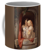 Two Young Ladies At The Window Coffee Mug
