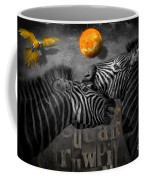 Two Zebras And Macaw Coffee Mug