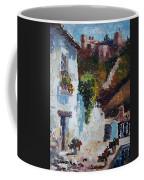 Typical Street Of Granada. Original Acrylic On Paper Coffee Mug