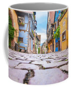 half-timbered houses, Riquewihr, Alsace, France   Coffee Mug