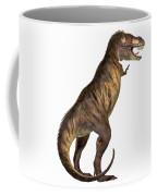 Tyrannosaurus Rex On White Coffee Mug