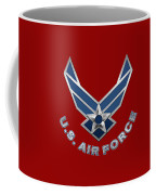 U. S. Air Force  -  U S A F Logo On Red Leather Coffee Mug