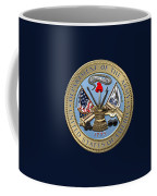 U. S. Army Seal Over Blue Velvet Coffee Mug