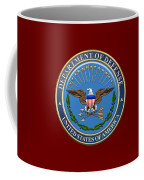 U. S. Department Of Defense - D O D Emblem Over Red Velvet Coffee Mug