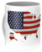 U S Map Stars N Stripes  Coffee Mug