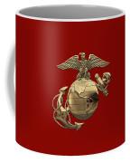 U. S.  Marine Corps - N C O Eagle Globe And Anchor Over Corps Flag Coffee Mug