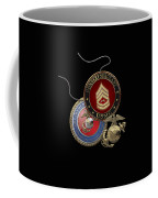 U. S. Marine Gunnery Sergeant Rank Insignia Over Black Velvet Coffee Mug