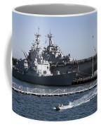 U S S Sampson And U S S Essex In San Diego Coffee Mug