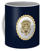 Vice Presidential Service Badge On Blue Velvet Coffee Mug