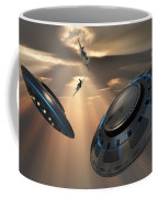 Ufos And Fighter Planes In The Skies Coffee Mug