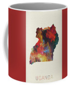 Uganda Watercolor Map Coffee Mug