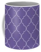 Ultra Violet Quatrefoil Coffee Mug