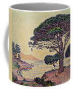 Umbrella Pines At Caroubiers Coffee Mug by Paul Signac