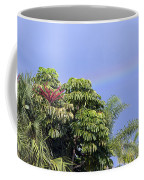 Umbrella Tree With Rainbow And Flower Coffee Mug