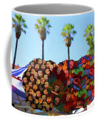 Umbrellas Day Of The Dead Paint  Coffee Mug