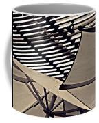 Umbrellas Sepia Coffee Mug