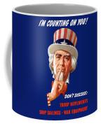 Uncle Sam - I'm Counting On You Coffee Mug