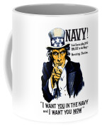 Uncle Sam Wants You In The Navy Coffee Mug by War Is Hell Store