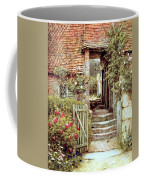 Under The Old Malthouse Hambledon Surrey Coffee Mug by Helen Allingham