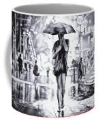 Under The Umbrella - Ballpoint Pen Art Coffee Mug